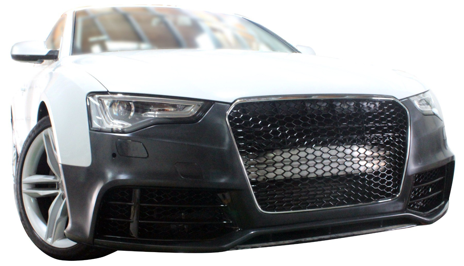 Zderzak przedni + Grill Czarny Audi A5 8T 13-16 RS5 Style - GRUBYGARAGE - Sklep Tuningowy